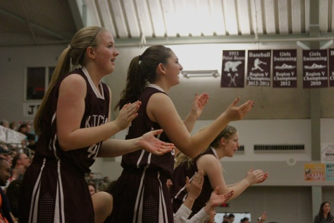 Kayhi girls cheer late in the championship game Saturday.