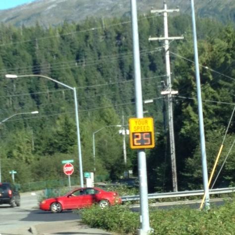 First radar sign in Ketchikan on Schoenbar Road. AMBER JUNKER
