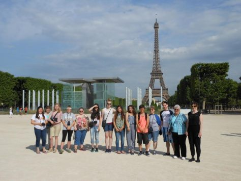 A group of fifteen students traveled to France this summer.